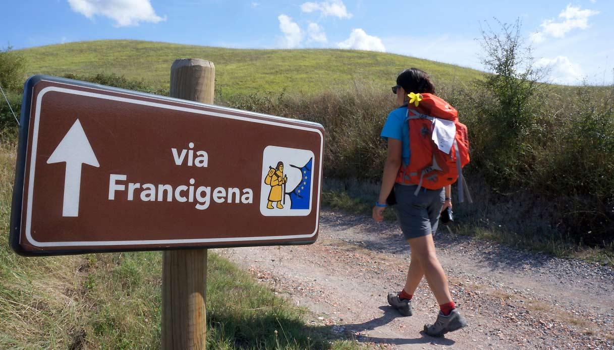 pellegrino della via francigena